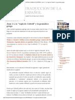 La Mejor Traducción de La Biblia Al Español_ Juan 1_1, La _regla de Colwell_ y La Gramática Griega