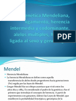 Genética Mendeliana, Ligamiento, Herencia Intermedia