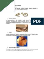 Formas de Presentación de La Madera