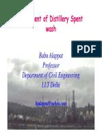 Treatment of Distillery Spent wash