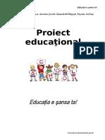 Proiect Educational de Prevenire a Abandonului Scolar