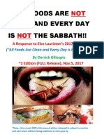 All Foods Are Not Clean and Every Day is Not the the Sabbath (FULL)