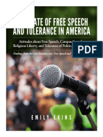 The State of Free Speech and Tolerance