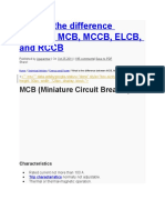 What is the Difference Between MCB, MCCB, ELCB, And RCCB