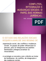 Conflitos Integração e Mudanças Sociais