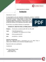 Invitacion y Programa de Capacitacion INVIERTE