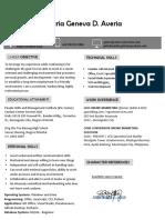 Geneva Averia Resume PDF