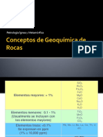 Repaso Geoquimica de rocas