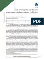 Problemas de la investigación jurídica y su enseñanza en nivel de posgrado en México.pdf