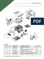Parts Catalog Samsung M4080 Multifuncional