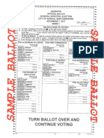 A sample ballot for Tuesday's election in Nashua