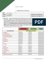 skills checklist final