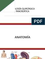 PATOLOGÍA QUIRÚRGICA PANCREÁTICA