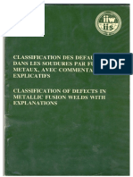 Classsification de Defectos
