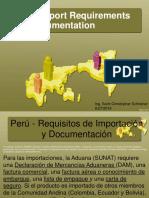 perú import requirements.ppt