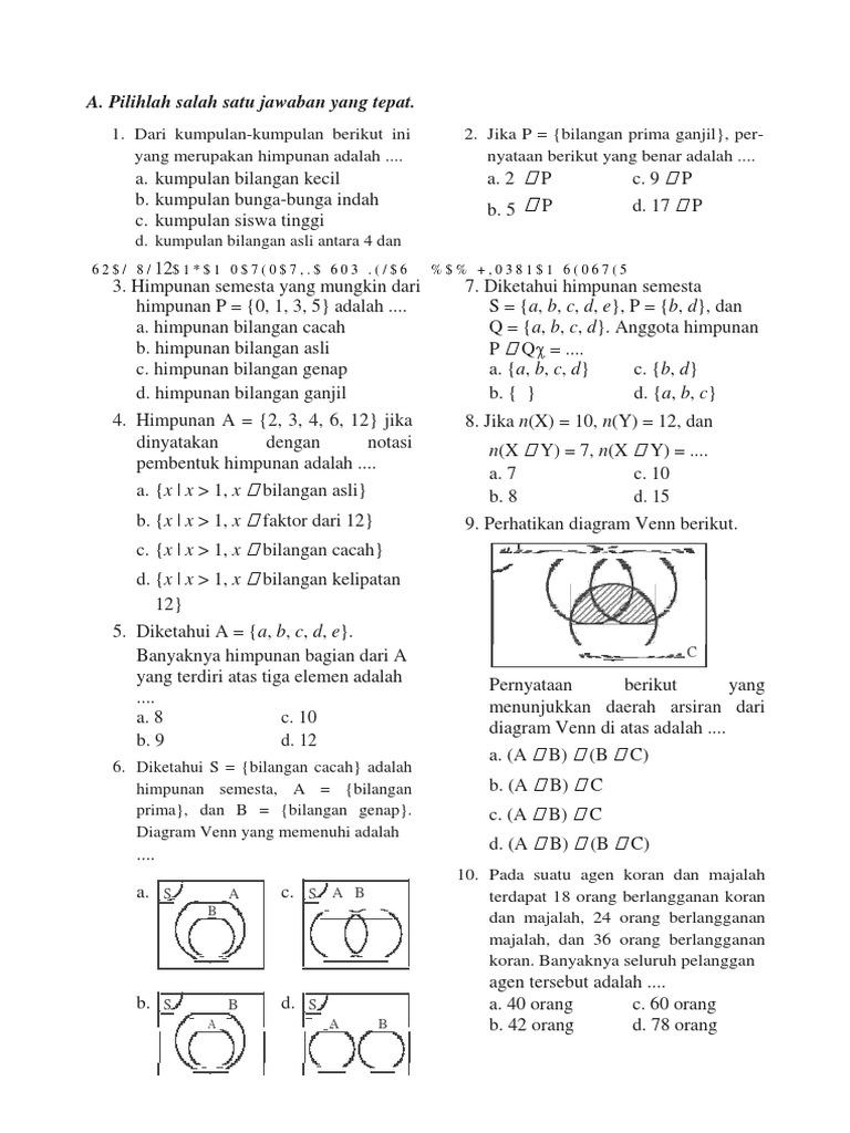 Kumpulan Contoh Soal  Contoh Soal Diagram Venn 3 Himpunan