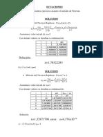 Ecuaciones NR