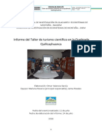 Informe Taller Turismo Quilcayhuanca