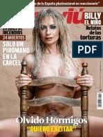 Olvido Hormigos (2017) Interviú Nº2149