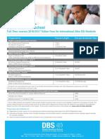 International Fee Sheet