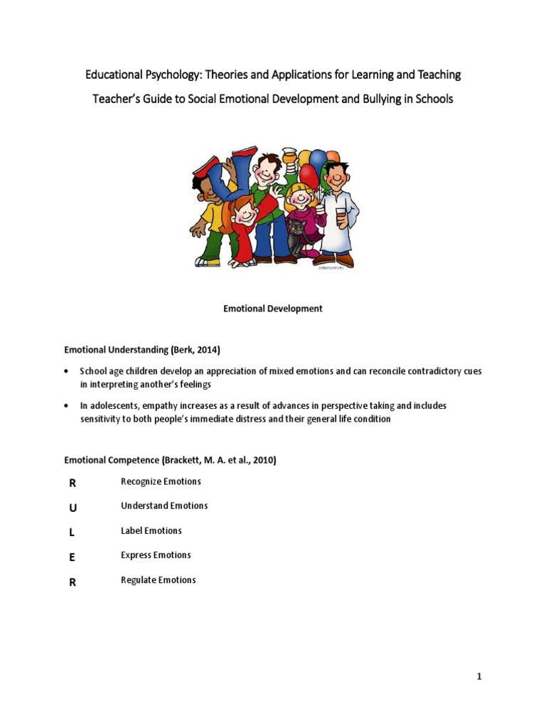 Social Emotional Development Tr Guide 24 May 2016 Bullying