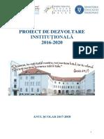 Proiect de Dezvoltare Instituțională 2016-2020 (Anul școlar 2017-2018)