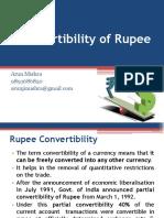 Convertibility of Rupee