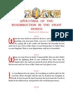 Apolytikia of the Resurrection in the Eight Modes