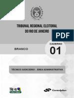 Simulado TRE RJ - Técnico Judiciário - revisado COM GABARITO e COMENTÁRIOS