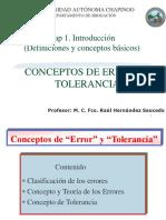04) Concepto de Error y Tolerancia