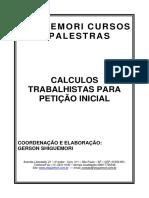 Apostila Cálculos Petição Inicial - Dr Gerson Shiguemori