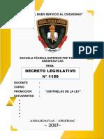 DECRETO LEGISLATIVO N° 1150 DEL REGIMEN DICIPLINARIO DE LA PNP (RESUMIDO).docx