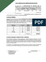 Contrato de Servicio de Confeccion de Polos