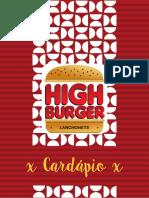 High Burger - Cardápio