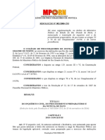 RESOLUÇÃO Nº 002.2008-CPJ - Inquérito Civil