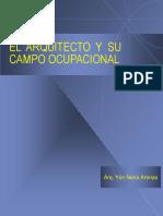 Arquitecto y Campo Ocupacional