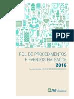 Rol de Procedimentos e Eventos Em Saude 2016