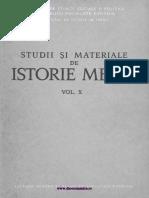 Studii Si Materiale Istorie Medie 10 (1983)