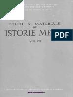 Studii Si Materiale Istorie Medie 07 (1974)