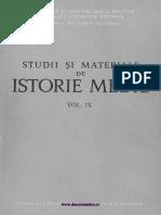 Studii Si Materiale Istorie Medie 09 (1978)