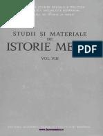 Studii Si Materiale Istorie Medie 08 (1975)
