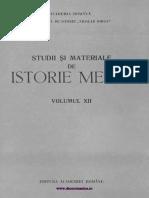 Studii Si Materiale Istorie Medie 12 (1994)