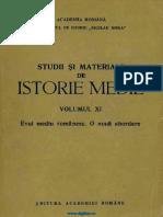 Studii Si Materiale Istorie Medie 11 (1992)