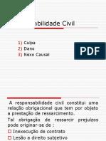 Responsabilidade - Ato Ilicito, Culpa, Dano, Nexo Causal