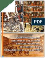 Condicionantes que permitieron los cambios sociales, políticos y económicos de la Nueva España en el siglo XVIII