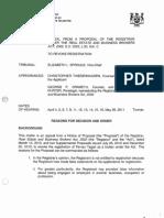 2011 07 25 RECO v Pervez Tagari [Real Estate Licence Revoked] - Ont Licence App Trib