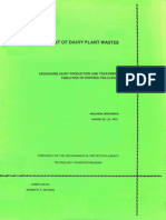 treatment of wastewater of  Dairy