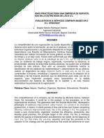 Evaluación de Buenas Practicas Para Una Empresa de Servicio, Basada en La Estrategia de Las 5 s's.