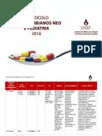 Protocolo Antimicrobianos Neo e Pediatria 2016