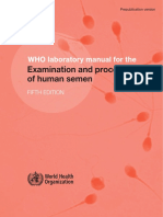 Examination and Processing of Human Semen OMS